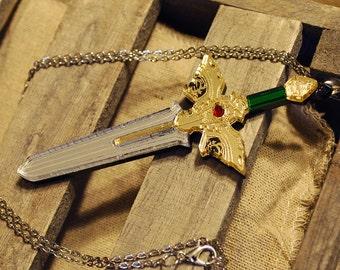 Handmade Acrylic Fire Emblem Sword of Seals Necklace