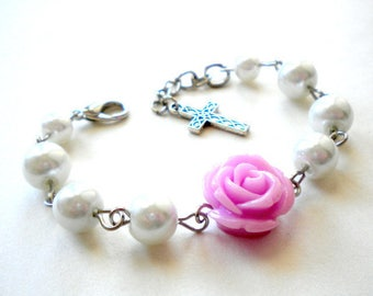 First Holly Communion Gift Baptism Gift From Godparents Christening Party Baptism Day Holly Communion Bracelet Christening Day