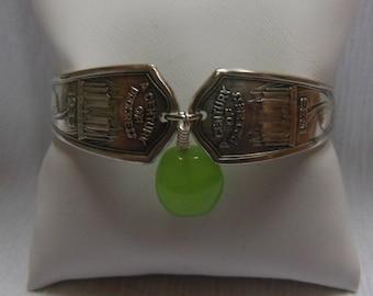 Antique Century of Progress Spoon Bracelet 7.75 inches
