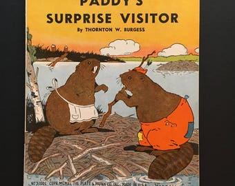 Vtg 1940 Children's Book - Padd's Surprise Visitor - Thornton W Burgess  - The Platt & Munk Co