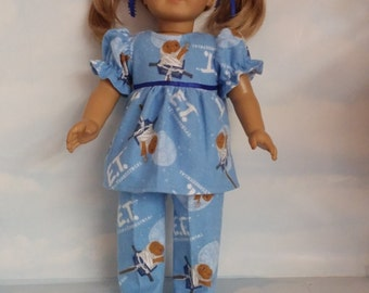 18 inch doll clothes - ET Pajamas handmade to fit the American Girl Doll - FREE SHIPPING