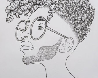 The Hair   Original Pen & Ink Drawing