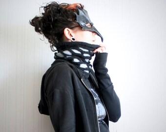 knit cowl scarf // gray chunky cowl // gray knit headband // slouchy beanie hat // wide slouchy headband // chunky knit scarf // neckwarmer