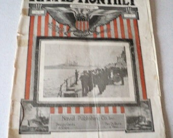 """Antique 1919 The Naval Monthly Magazine """"In the Interest of the U.S. Navy"""""""