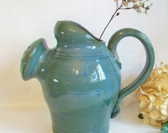 Vase, Watering Can/Large Vase - Teal-Blue/Green - Wheel Thrown, Hand Made, One of a Kind  - Ready to Ship, Mothers Day, Birthday, Wedding