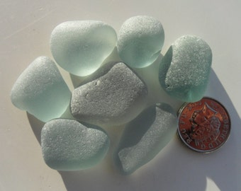 Grey Blue -  Beautiful English Seaham Sea Glass - Free Shipping (5248)