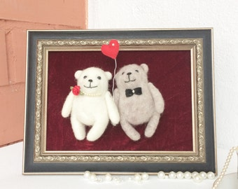 Gift for wedding - Felted animals - Gift ideas for her - Home decor -Cheerful gift- Family gift