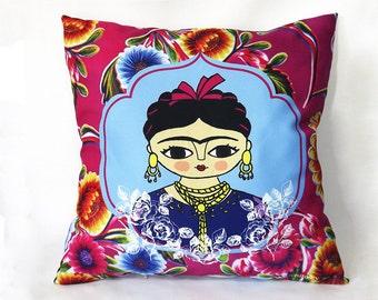 "Frida Kahlo pillow, artwork, cushion Frida Kahlo 16""x 16"" (40 x 40 cm.)"