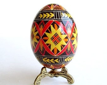 Christmas gift Ukrainian Pysanka Slavic heritage handmade one of a kind thoughtful gift on Etsy Canada real egg painted with fine needle