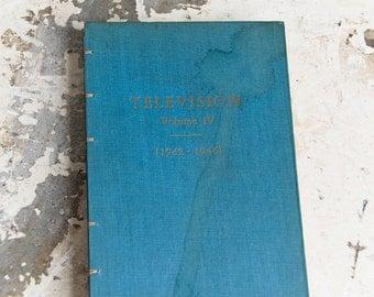 1947 TELEVISION Vintage Repurposed Book Journal