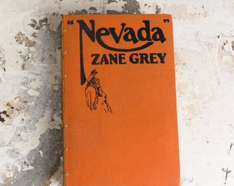 1928 NEVADA Vintage Recycled Book Journal