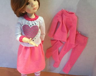 Pinky Pink Ensemble for BJD MSD modeled by KW girl