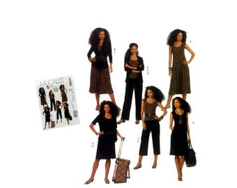 McCall's M5890 Misses Jacket Pattern Misses Top Pattern Misses Dress Pattern Misses Pants Pattern Misses 16, Misses 18, Misses 20, Misses 22