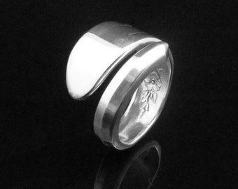 Plain Floral Silver Spoon Ring, Fantasy 1941