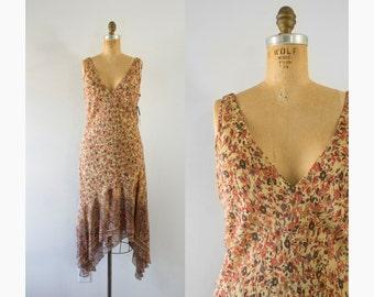 1990s does 1920s Autumn Bloom floral oldstock dress / 90s Ralph Lauren