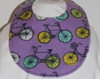 Bicycle Flannel / Terry Cloth Bib