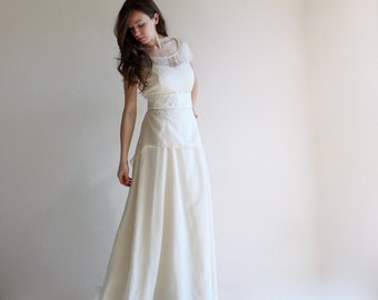 Wedding dress, two piece wedding dress, bridal separates, bridal outfit, modest wedding dress, simple wedding dress, wedding separates, gown