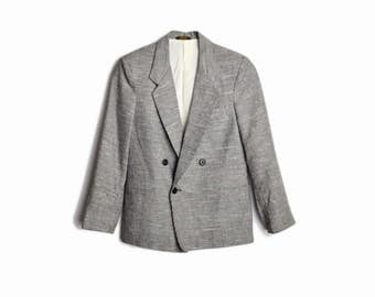 Vintage 70s/80s Women's Gray Tweed Blazer Jacket - women's xs