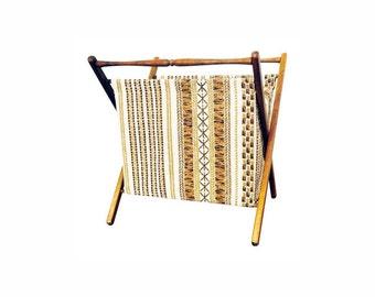 Vintage Folding Sewing Basket / Hamper