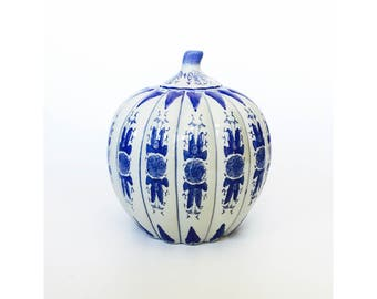 Vintage Large Blue and White Ginger Jar