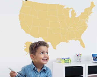 Childrens Map Etsy - Childrens us pushpin map