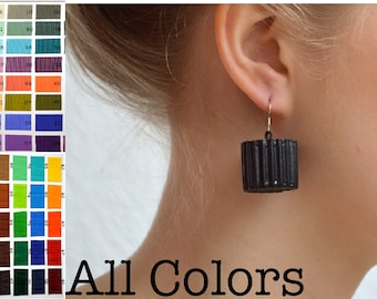 All COLORS: Earrings made of corrugated cardboard RULLO