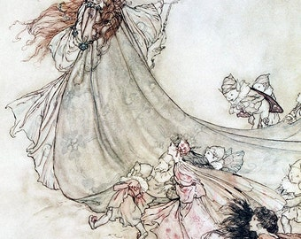A Midsummer Night's Dream,  Arthur Rackham, Vinatge Art Print