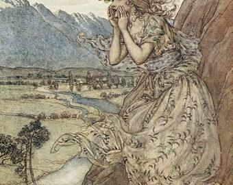 Sweet Echo, Arthur Rackham, Vinatge Art Print