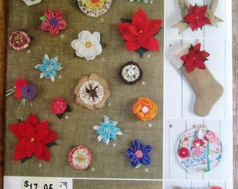 Fabric Flowers to Make Simplicity Pattern 1601 UNCUT