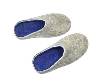 Mens House Slippers Wool Felt Slippers Clogs For Men Womens Clogs Slip Ons Felted Slippers, Wool Shoes For Women, Warm Slippers, Christmas