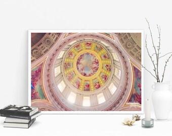 Napoleons Tomb - Paris Photography, Romantic decor, Paris Decor, Parisian Wall Art, France, Paris, Pink and Gold, Parisian, French Art