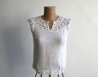 Crochet Knit Blouse