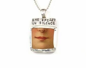 Unusual Jewelry Gift For Women, Meaningful Jewelry For Women, Best Jewelry Gift For Mom, Robin Wade Jewelry, She Speaks In Silence, 2414