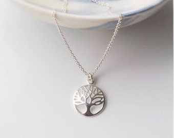 Tree necklace, sterling silver tree, jewellery,nature jewellery, tree of life, family jewelry, wedding jewelry