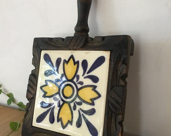 mexican tile wood trivet