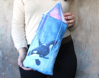Crystal Orca Art Pillow