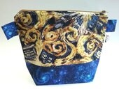 Doctor Who Knitting/spinning/crochet/crafting project bag