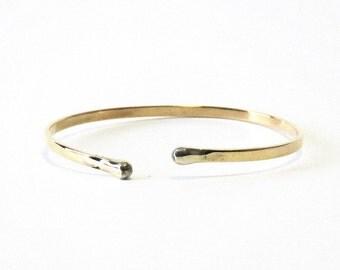 Brass Bracelet, Brass Cuff, Brass Bangle, Women, Teen, Men, Adjustable, BLB 7