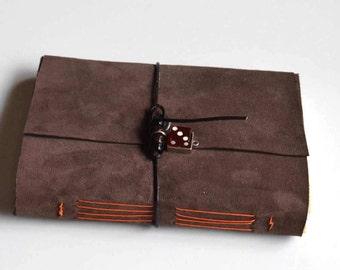 Leather Sketchbook, Leather Wrap Sketchbook, Brown leather Sketchbook