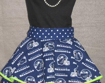 Seattle Seahawks Ladies Fancy Hostess Half Apron