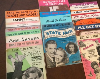Collection of 26 Songs on Sheet Music From 30's, 40's 50's & 60's, 26 Songs