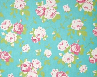 Rose Vine in Green pwtw101 - CHLOE by Tanya Whelan for Free Spirit Fabrics - By the Yard