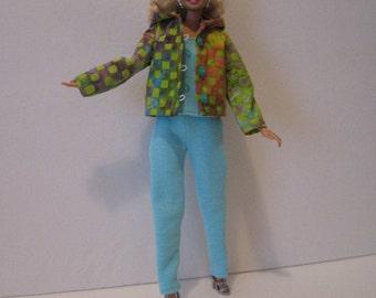 Barbie 3 Piece Hoodie Outfit
