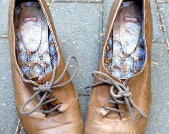 Stocktake sale // Vintage Oxfords Camper Leather shoes // 37/6.5 // Oxford Lace-up // Very 40-50s