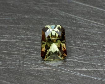 Andalusite Loose Natural Small Petite Pleochroic Gemstone Faceted in a Modern Designer Trapezoidal Radiant Cut