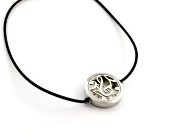 Music essential oil rubber necklace