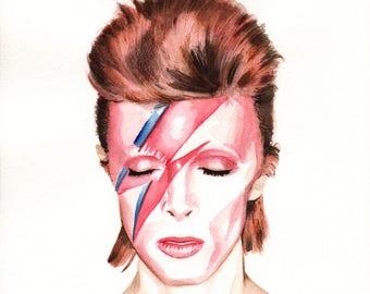 David Bowie. Aladdin Sane. Album Cover. Print. Frame Ready. Choose Size