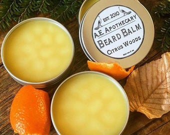 Beard Balm - beard conditioner - Beard Oil - man grooming - lemongrass, fir, lime - Shea Butter, coconut oil, jojoba
