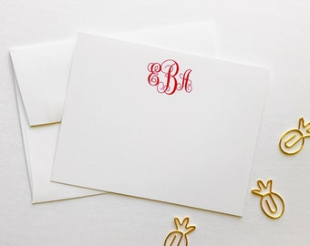 Monogrammed Personalized Notecards - Wedding Notecards