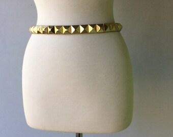 Thin Gold STUDDED Woman's Vintage Belt